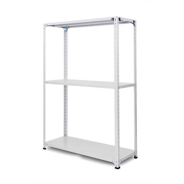 100kg/段 軽量セミボルトレス棚 高さ2100 x 棚板3枚(有効2段)