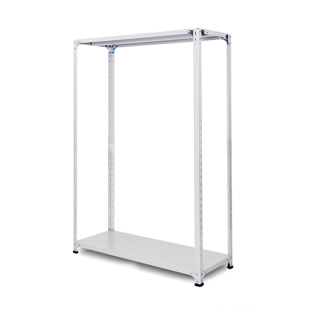 100kg/段 軽量セミボルトレス棚 高さ2400 x 棚板2枚(有効1段)