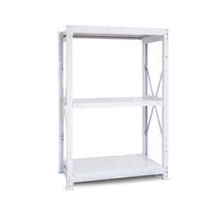 1000kg/段 重量スチール棚 高さ1500 x 棚板3枚(有効2段)