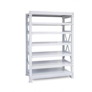 1000kg/段 重量スチール棚 高さ1500 x 棚板7枚(有効6段)