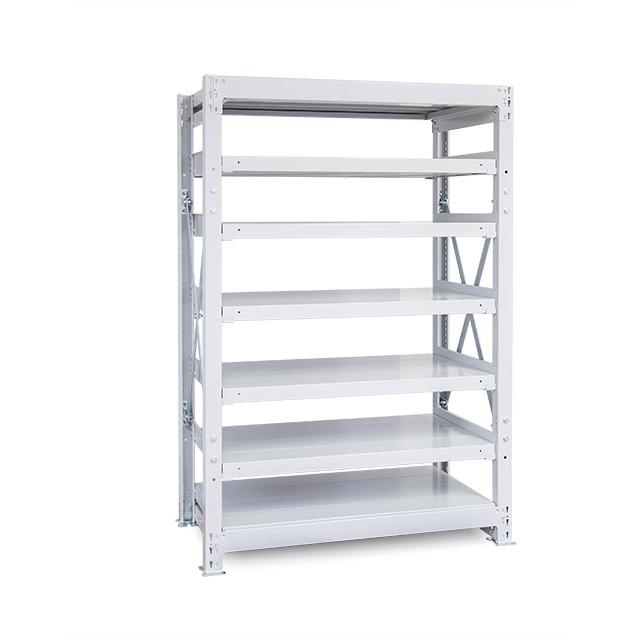 1000kg/段 重量スチール棚 高さ1800 x 棚板7枚(有効6段)