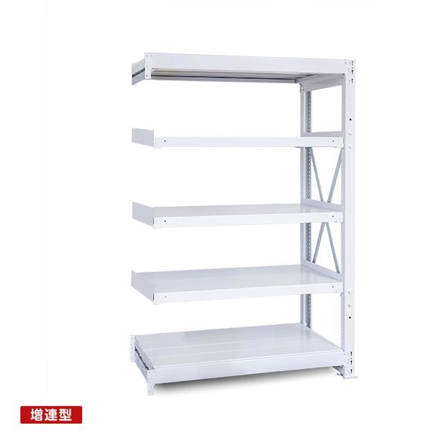 1000kg/段 重量スチール棚 増連型 高さ1500 x 棚板5枚(有効4段)