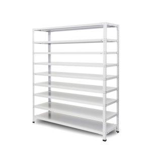 100kg/段 組立簡単らくらくラック 高さ1500 x 棚板9枚(有効8段)