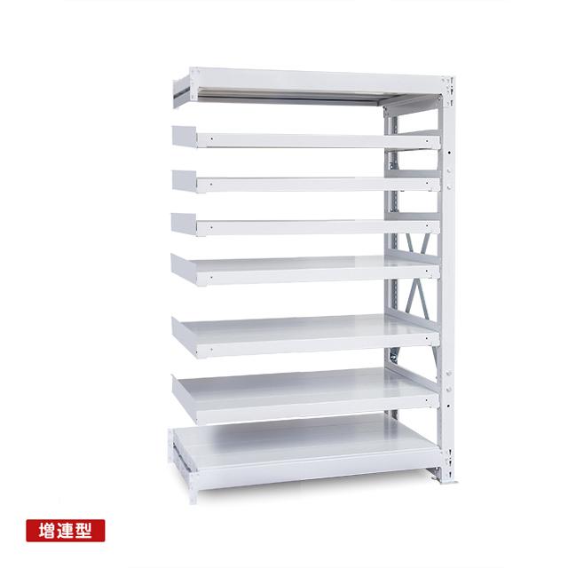 1000kg/段 重量スチール棚 増連型 高さ1800 x 棚板8枚(有効7段)