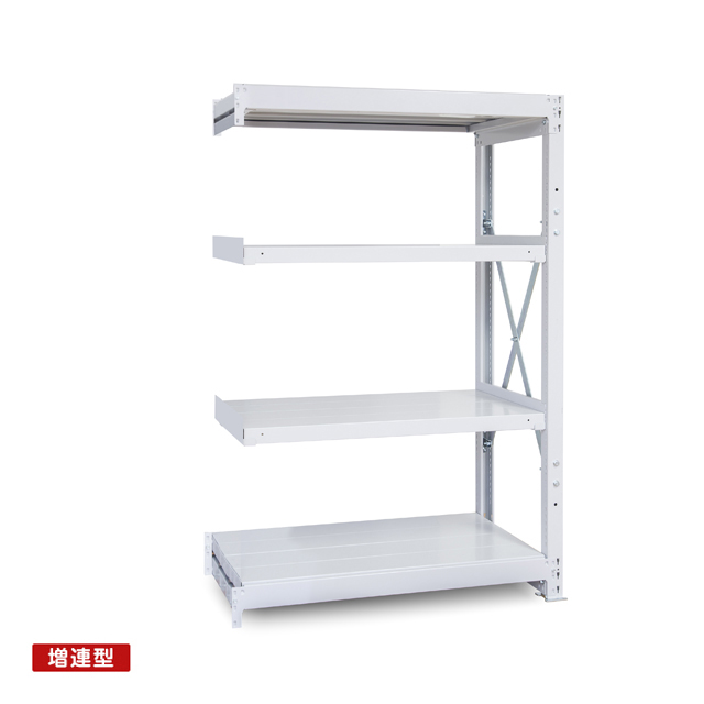 1000kg/段 重量スチール棚 増連型 高さ2400 x 棚板4枚(有効3段)