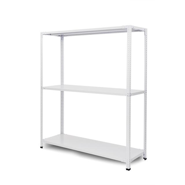 100kg/段 組立簡単らくらくラック 高さ1800 x 棚板3枚(有効2段)