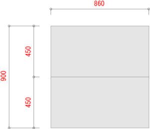 業務用スチールラックのBL300-棚板寸法W900XD900