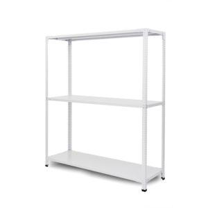 100kg/段 組立簡単らくらくラック 高さ1200 x 棚板3枚(有効2段)