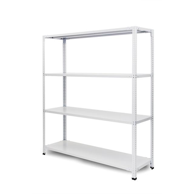 100kg/段 組立簡単らくらくラック 高さ1200 x 棚板4枚(有効3段)