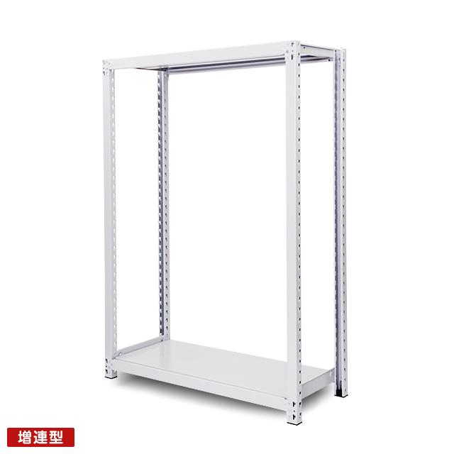 500kg/段 中重量ボルトレス棚 増連型 高さ1800 x 棚板2枚(有効1段)