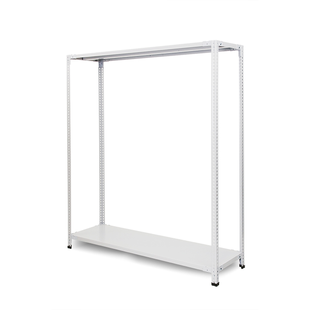 100kg/段 組立簡単らくらくラック 高さ2400 x 棚板2枚(有効1段)