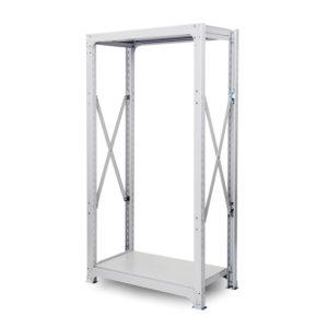 300kg/段 中量ボルト式棚 高さ1200 x 棚板2枚(有効1段)