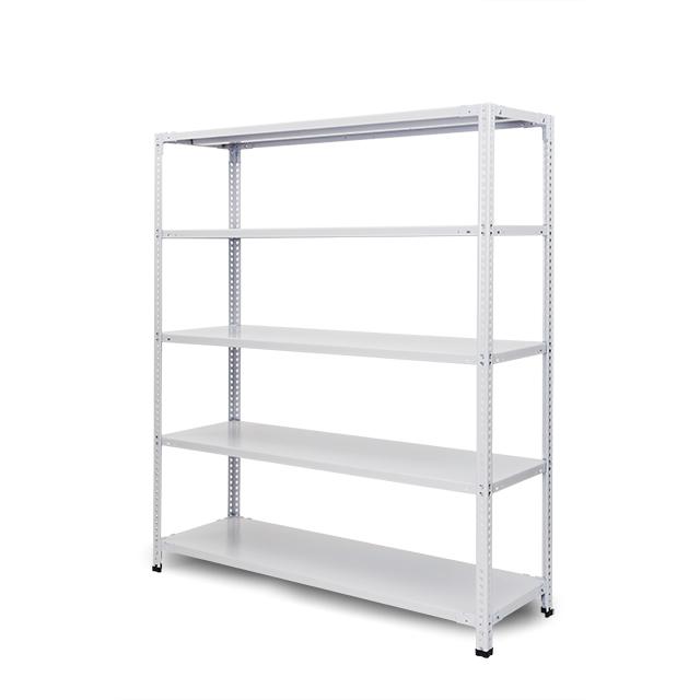 100kg/段 組立簡単らくらくラック 高さ2400 x 棚板5枚(有効4段)