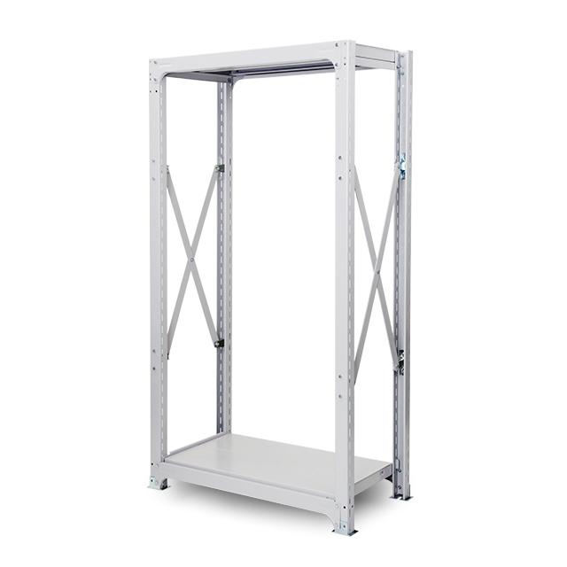 300kg/段 中量ボルト式棚 高さ2100 x 棚板2枚(有効1段)