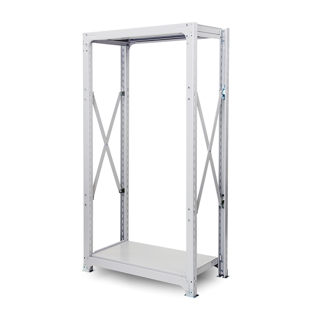 300kg/段 中量ボルト式棚 高さ2400 x 棚板2枚(有効1段)