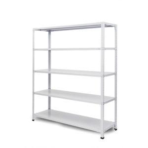 100kg/段 組立簡単らくらくラック 高さ1200 x 棚板5枚(有効4段)