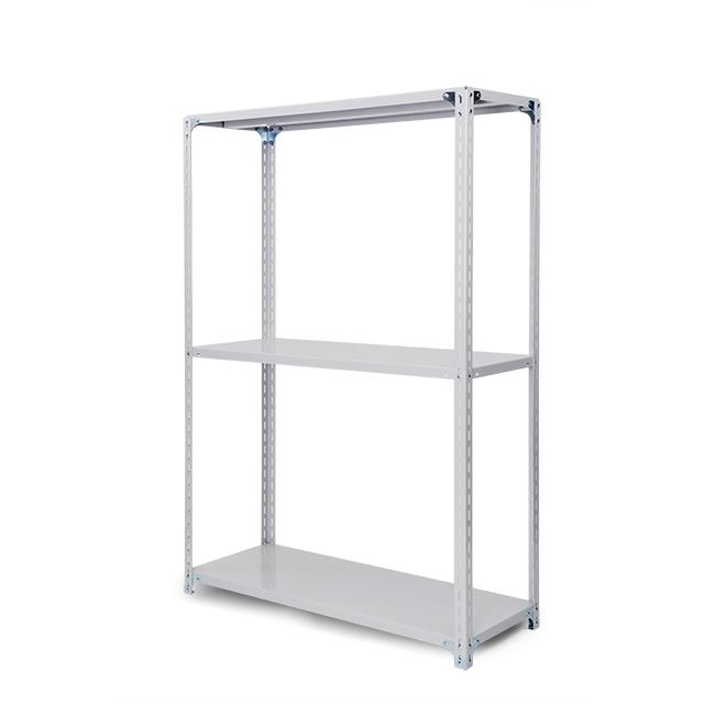 100kg/段 軽量ボルト式棚 高さ1200 x 棚板3枚(有効2段)