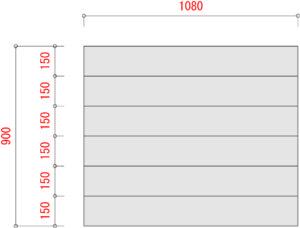 BO1000-棚板寸法W1200xD900