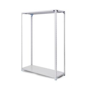 100kg/段軽量ボルト式棚 高さ1500 x 棚板2枚(有効1段)