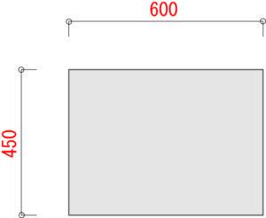 業務用スチールラックBO100 棚板 横幅600 奥行450