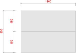 業務用スチールラックのBL300-棚板寸法W1200XD900