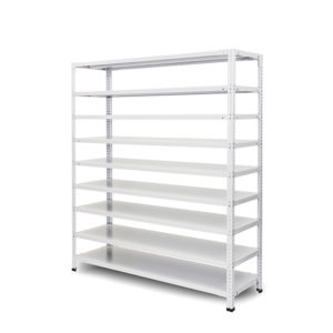 100kg/段 組立簡単らくらくラック 高さ1200 x 棚板9枚(有効8段)