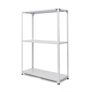 100kg/段 軽量セミボルトレス棚 高さ1200 x 棚板3枚(有効2段)