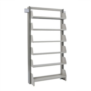 単柱単式書架 高さ2450 x 横幅970 x 奥行300(有効8段)