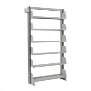 単柱単式書架 増連型 高さ2450 x 横幅970 x 奥行300(有効8段)