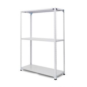 100kg/段 軽量セミボルトレス棚 高さ1500 x 棚板3枚(有効2段)