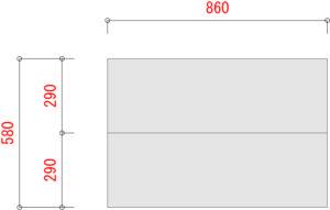 業務用スチールラックのBO300-W900XD600