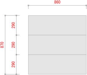 業務用スチールラックのBO300-W900XD900