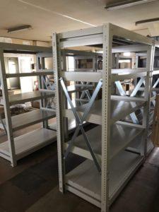 業務用スチールラック 重量棚を現地組立させて頂きました@神奈川県川崎市