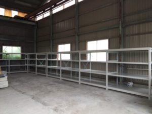 業務用スチールラック 重量棚を現地組立させて頂きました@埼玉県大里郡
