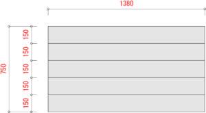 BO1000-棚板寸法W1500xD750