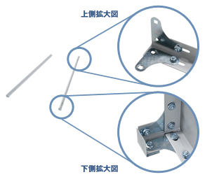 業務用スチールラックボルト式棚組立step01
