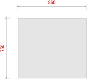 BL300-棚板寸法W900XD750