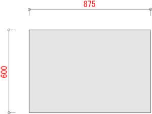 BO100棚板寸法W900 D600