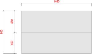 業務用スチールラックのBL300-棚板寸法W1500XD900